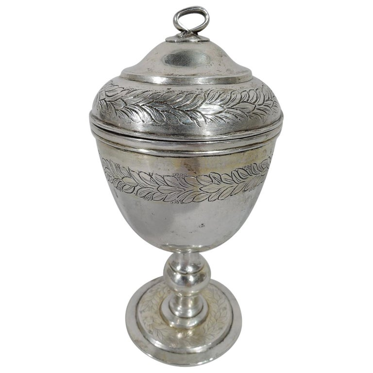 Antique Chinese Silver Covered Cup, 19th Century