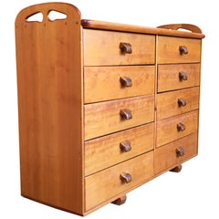 Handcrafted Pine Dresser with Koa Wood Drawer Pulls