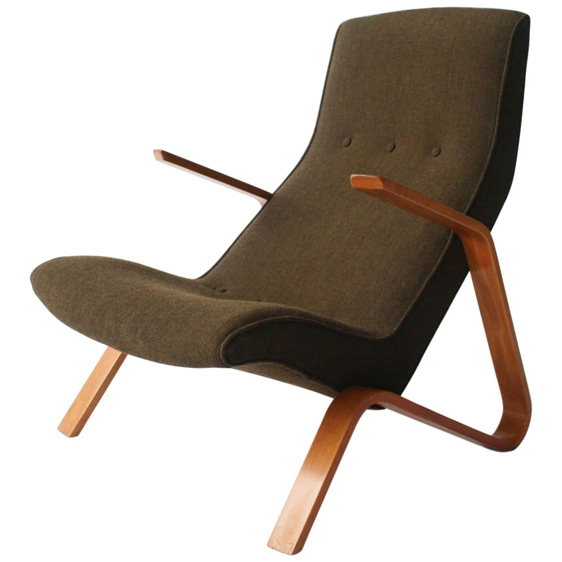 Ordinaire Vintage Grasshopper Lounge Chair By Eero Saarinen For Knoll