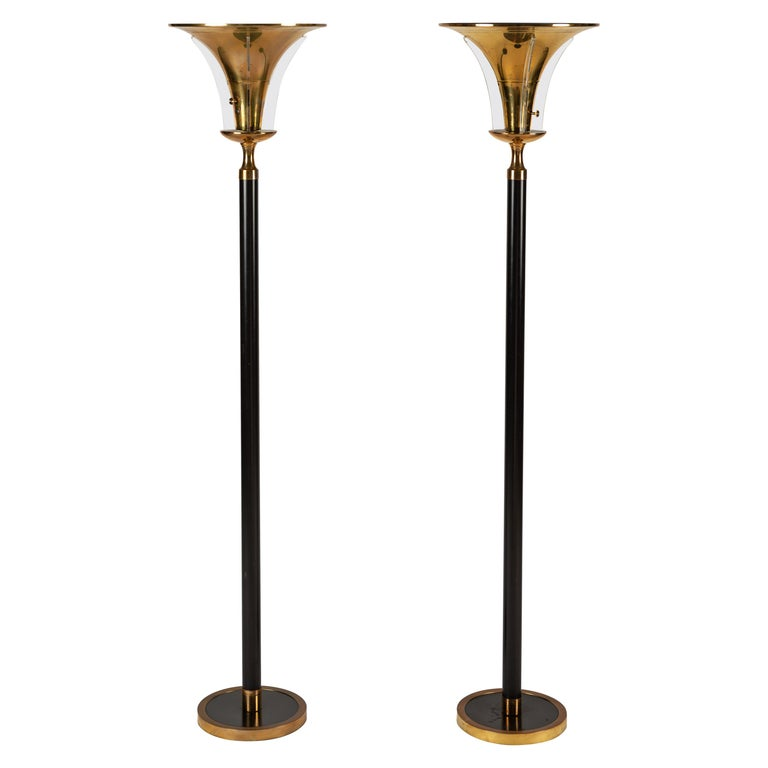 Pair of Art Deco Floor Lamps For Sale