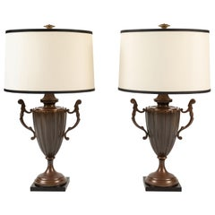 Pair of Urn Form Table Lamps by Chapman