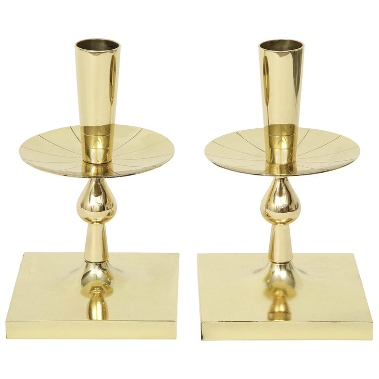 Tommi Parzinger Brass Candlesticks