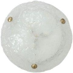 Kalmar Ice Glass Disc Flushmount, 2 available