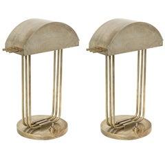 Marcel Breuer Nickelled Bronze Lamps