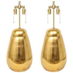 Bitossi Gold Glazed Terracotta Lamps