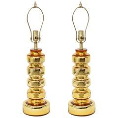 Johansfors Gold Glass Lamps