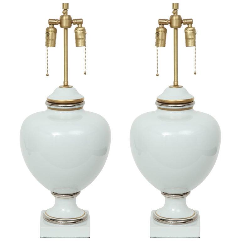Richard Ginori Porcelain Lamps