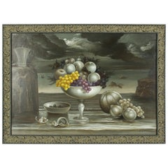 Cacace Filippo, Italian, Still Life with Grapes, Oil on Canvas