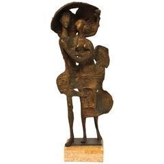 Milton Hebald Mid-Century Modernist Bronze Sculpture 'The Storm'