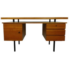 Teak Desk with Floating Top, Germany, 1960s