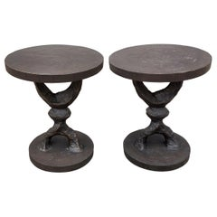 Pair of Corbin Crescent Side Tables