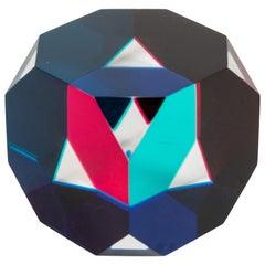 Cast Acrylic Octagonal Cube Sculpture by Vasa