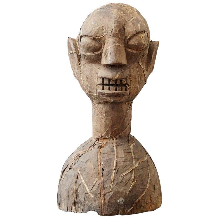Wooden Head of an Ooni of Ile-Ife, Yoruba People, Nigeria, circa 1930s For Sale