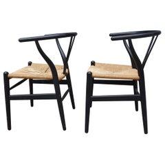 Midcentury Hans Wegner Wishbone Chairs