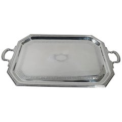 Antique Edwardian Sterling Silver Tea Tray by Graff, Washbourne & Dunn
