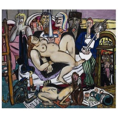Town, after Expressionist Oil Painting by Max Beckmann