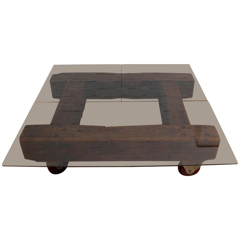 English Industrial Coffee Table For Sale