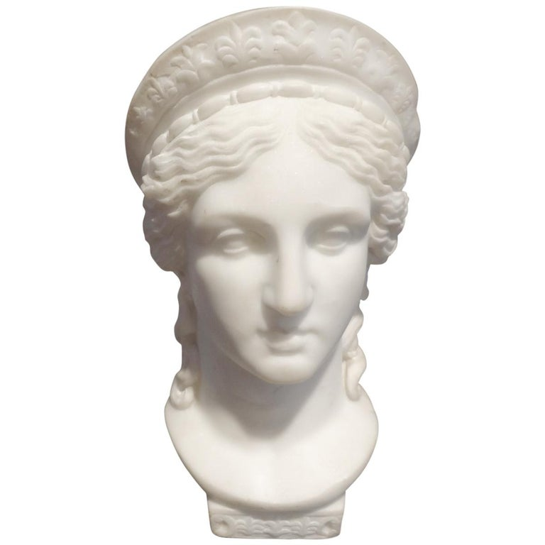 19th Century Italian Neoclassical Style Marble Bust