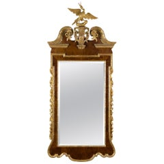 Chippendale Mahogany and Gilded Wood Constitution Mirror with Phoenix,circa 1770