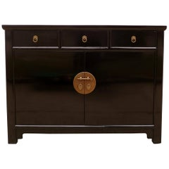 Fine Black Lacquer Sideboard