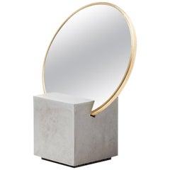 Slash Vanity Mirror Gris and Gris Rubber