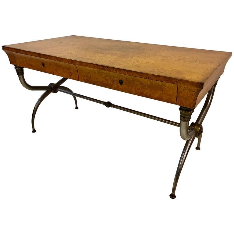 Italian Neoclassical Modern Campaign Desk