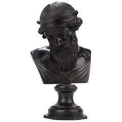 Antique Grand Tour Bronze Bust of Dionysius