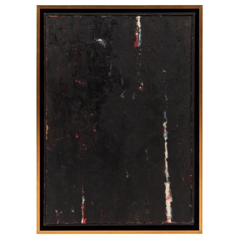 Framed Modern Abstract Oil Painting by Stevan Kissel