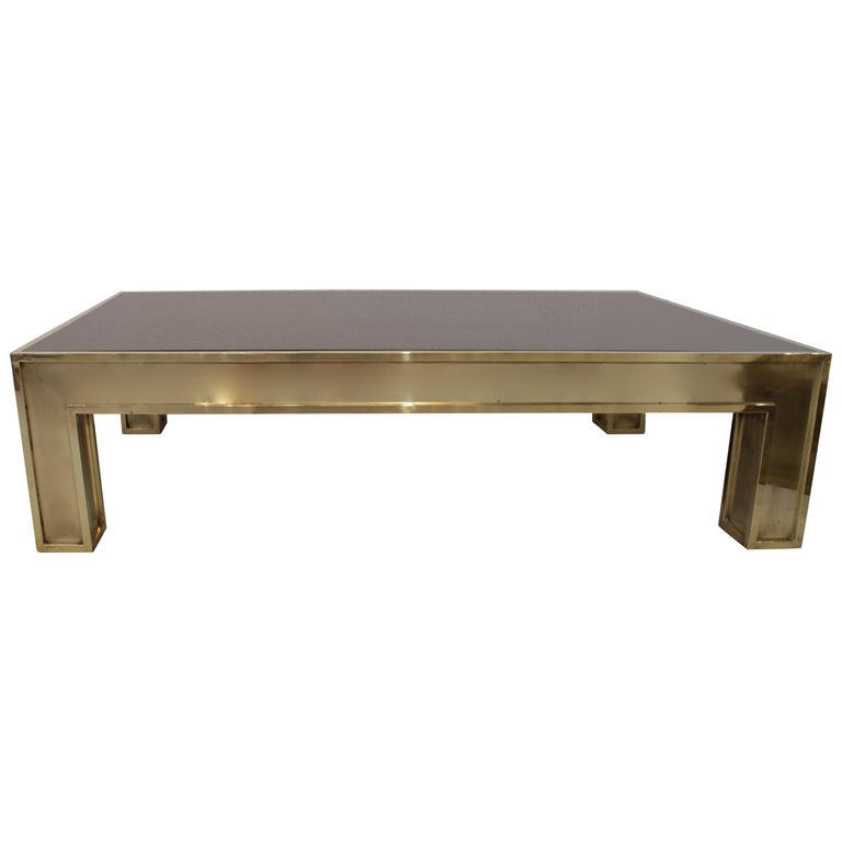 Romeo Rega Brass and Glass Coffee Table