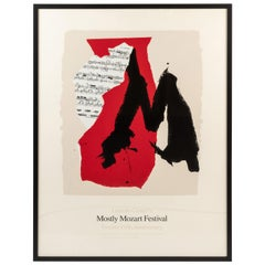 Framed Lincoln Centre Mostly Mozart 25th Anniversary Poster by Robert Motherwell