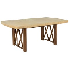 Cork-Top Extension Dining Table by Paul Frankl