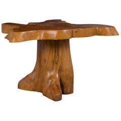 Slab Burled Side Table