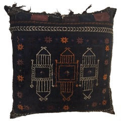 Handmade Antique Collectible Afghan Baluch Saddle Bag Tribal Large Floor Cushion
