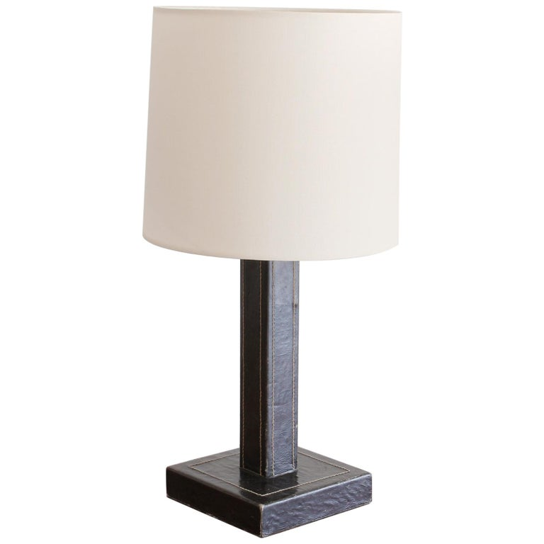 Jacques Adnet Style Table Lamp For Sale