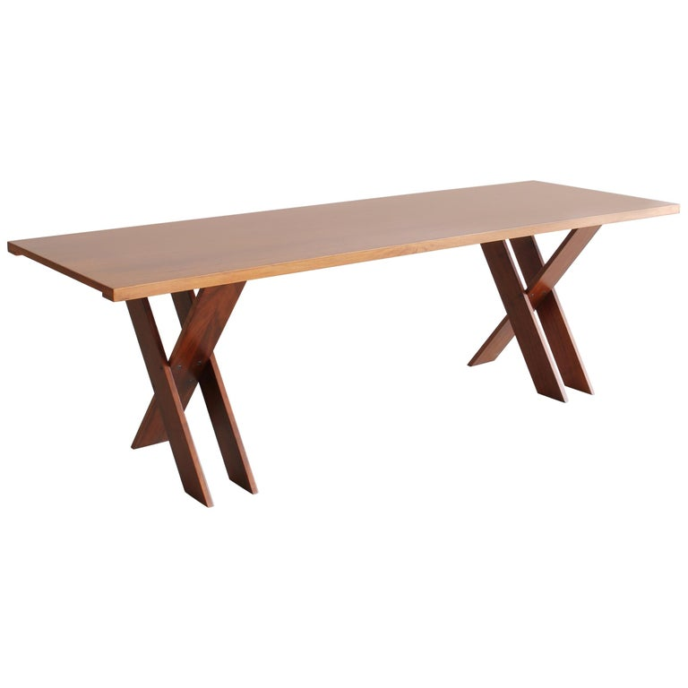 Marco Zanuso Walnut Dining Table for Poggi