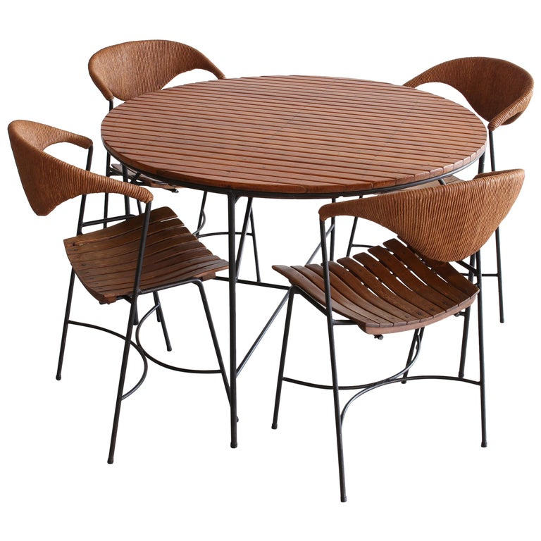 Arthur Umanoff Dining Table and Chairs For Sale
