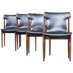 1960s Inger Klingenberg Dining Chairs for Fristho, Set of Four