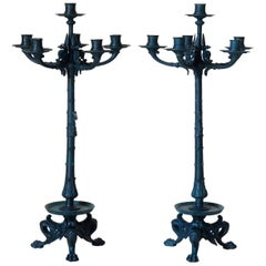 Pair of Bronze Empire Candelabras, France, circa 1880s
