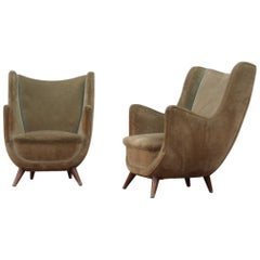 Elegant and Particular Italian 1950s Armchairs