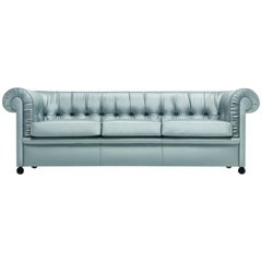 Baleri Italia Bristol Three-Seat Sofa in Silver Fabric by Enrico Baleri