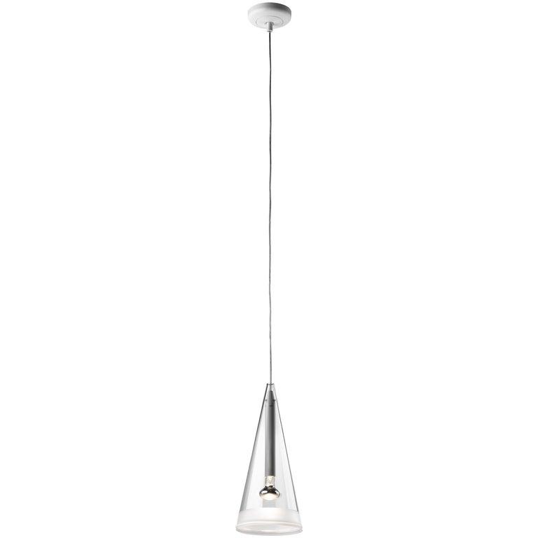 FLOS Fucsia 1 Pendant Light w/ Clear Cord by Achille Castiglioni