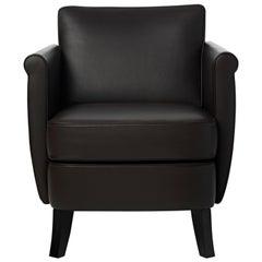 Baleri Italia Undersized Armchair in Brown Leather by Maison Margiela
