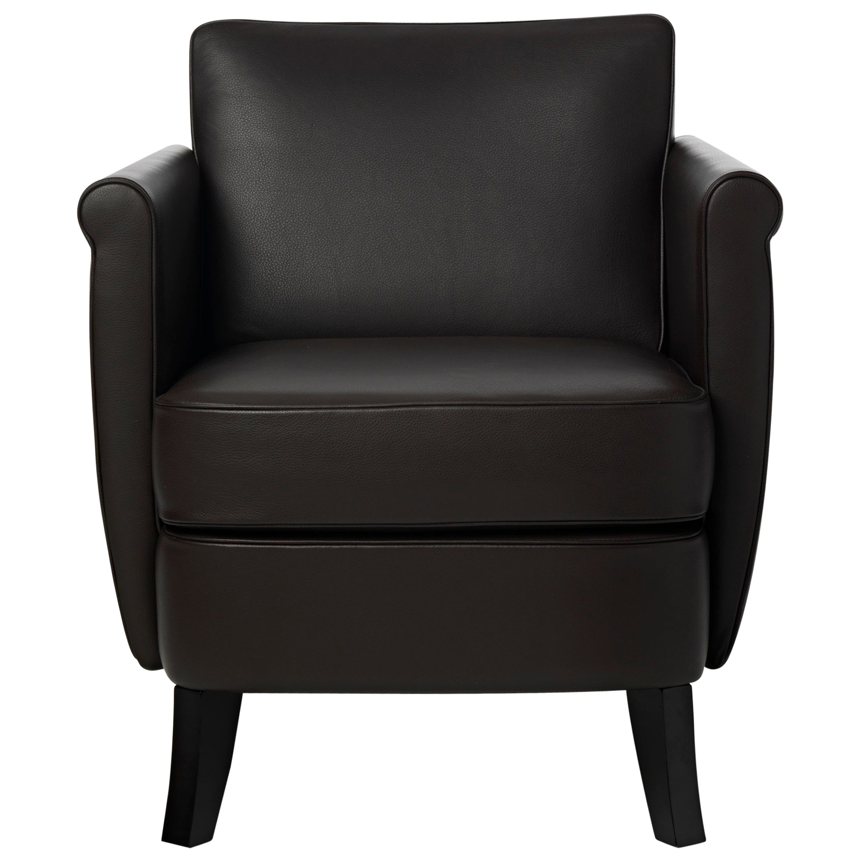 Baleri Italia Undersized Armchair in Brown Leather