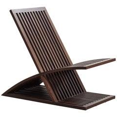 "Oak ""Triclinia"" Armchair Designed by Masao Noguchi, 1980s"