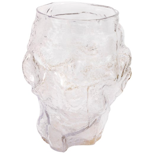 Contemporary Design Unique Glass 'Mountain' Vase by FOS