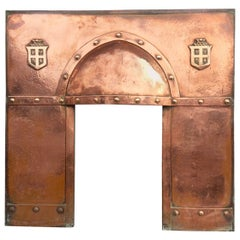 Arts & Crafts Copper Fireplace or Insert