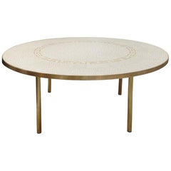 Berthold Müller Oerlinghausen Mosaic Gold-Plated Coffee Table, 1960s Germany