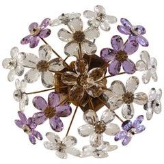French Prism Floral Vintage Ceiling Lamp