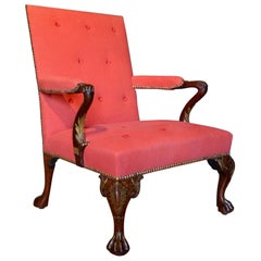 18th Century Cabriole Leg Mahogany Gainsborough Chair