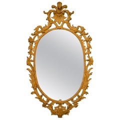 18th Century Oval Carved Mirror